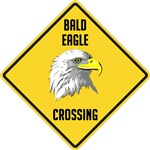 Bald Eagle Crossing Sign