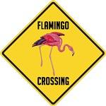 Flamingo Crossing Sign
