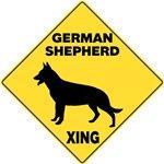 German Shepherd Crossing Sign