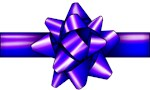 Violet Holiday Bow