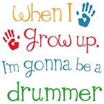 Future Drummer Kids Music Tees