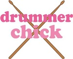 Drummer Chick Musical Tee Shirts