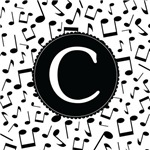Music Monogram Letter C Gifts