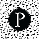 Music Monogram Letter P Gifts