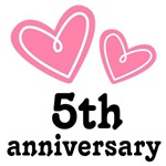 Pink Heart 5th Anniversary Wedding Gifts