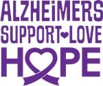 Alzheimers Awareness Support heart tshirts