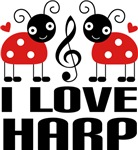 I Love Harp Tees and Gifts