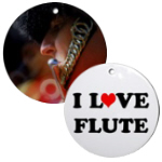 Flute Music Ornaments for Christmas