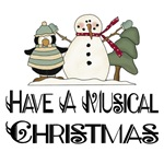 Musical Christmas Snowman Gifts and T-shirts