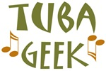 Funny Tuba Geek Music T-shirts