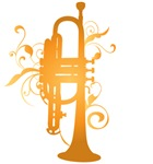 Swirl Trumpet Music Apparel