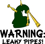 Leaky Pipes Bagpiper Music T-shirts