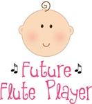 Future Flute Player Kids T-shirts