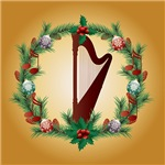 Harp Christmas Music Gifts and T-shirts