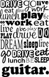 GUITAR Eat Sleep Work Play Music T-shirts