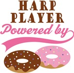 HARP PLAYER POWERED BY DONUTS T-shirts