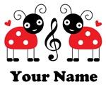 MUSIC GIFT LADYBUG T-SHIRTS