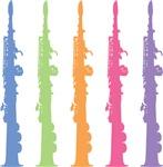 Soprano Saxophone SILHOUETTE T-SHIRTS