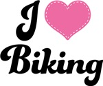 I Heart Biking T-shirts and Gifts