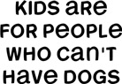 Kids People Dogs