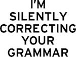 I'm Correcting Grammar