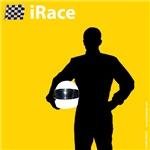 iRace Yellow Race Car Driver