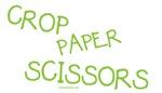 Crop Paper Scissors - Green