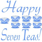70th Birthday Gifts, Happy 7 Teas!