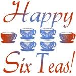 60th Birthday Gifts, Happy 6 Teas!