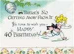 Retro 40th Birthday Gifts! Wasp Girl!