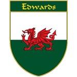 Edwards Welsh Flag Shield