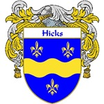 Hicks Coat of Arms (Mantled)