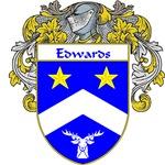 Edwards Coat of Arms (Mantled)