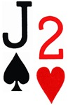 Jack of Spades 2 of Hearts