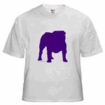 Purple Bulldog Silhoutte