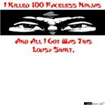 100 Faceless Ninjas