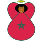 Moroccan Flag Angel
