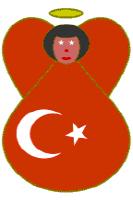 Flag of Turkey Angel