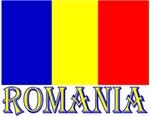 Romania Flag & Word