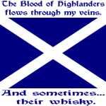 Scottish Blood & Whisky --St. Andrew's Cross Flag