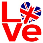 United Kingdom Red LOVE