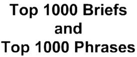 Top 1000 Briefs & Top 1000 Words