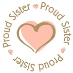 Proud Sister Heart T-shirts Gifts