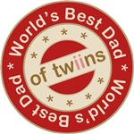 World's Best Dad of Twin Girls T-shirts Gifts
