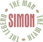 Simon the Man the Myth the Legend T-shirts Gifts