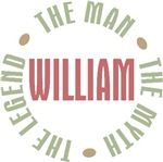 William the Man the Myth the Legend T-shirts Gifts