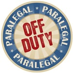 Off Duty Paralegal Occupation T-shirts Gifts