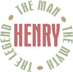 Henry the man the myth the legend T-shirts Gifts