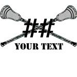 Lacrosse Gree Camo Sticks Crossed Personalize