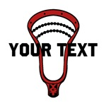 Lacrosse Personalize Head Red